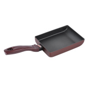 Square Grill Pan High Performance Nonstick Stove Top Grilling Pan Aluminium 18cm Portable Square Griddle Pan Cookware