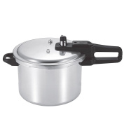 9L,15L,18L Litre Stove Top Pressure Steam Cooker Polished Aluminium Fast Cook Kitchen Pan - Auto Safety Venting & Pressure Regulation Catering Home - 9L