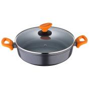 San Ignacio Lava Baking Pan/Low Casserole with Lid, Cast Aluminium, Grey, 28 cm
