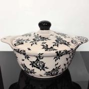 Vase Ceramic Soup Pot Soup Dish Pot 1.1 L 1202