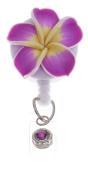 Badge Blooms ID Badge Reel - Plumeria - Orchid