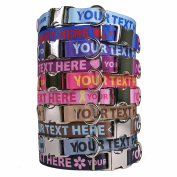 Personalised Premium Dog Collar with Metal Clasp - Available 20 Colours + 4 Sizes