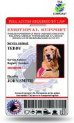 XpressID Holographic Emotional Support Dog ID Card (Custom) Includes Registration To National Dog Registry
