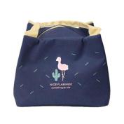 Sukisuki Portable Flamingo Thermal Insulated Lunch Bag Food Fruit Storage Pouch - Random Colour