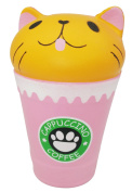 LaliLaco Coffee Cat Cup Squishy Toy Squeeze Slow Rising Toy (Height 13.5cm) Cute Soft Toy