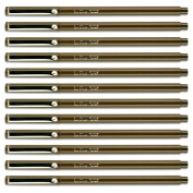 Uchida BROWN Le Pen .3MM Micro Ex Fine Synthetic Point 12 Pens