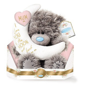 Me to You - 23cm Mum Teddy - Mum, I love you to the Moon and back - Holding crescent moon