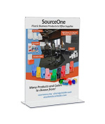 Source One 5 x 7 Premium Upright Clear Acrylic Sign Holders Table Tents Ad Frames
