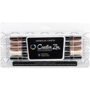 Creative Zen Adult Colouring Markers 5/pkg-neutral