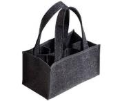 Felt Bag Bottle Basket Six Pack Bottle Bag Carrier for 0.33/0.5 Litre Beer Bottles