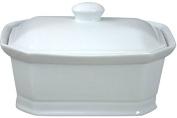 Cosy & Trendy rh46635 Pate Terrine with Ceramic Lid, White, 20 x 14.5 x 8.5 cm