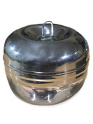 Stainless Steel Apple Deep Dabba, Kitchen Storage Container, Masala Box, Food Storage Containers, Silver Colour Size 8.9cm X 8.9cm