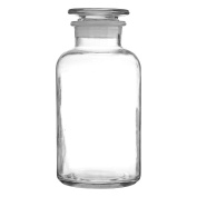 Apothecary Style Glass Storage Jar Suitable For Storing Small Items In Bathroom