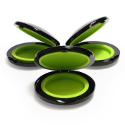 Portable Clamshell Containers for Wax and Concentrates [3-Pack] with hard plastic cover and silicone inserts