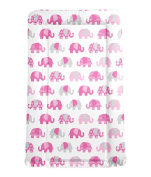 My Babiie Billie Faiers Baby Waterproof Changing Mat - Nelly the Elephant Pink