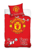 Manchester United Football Junior Toddler Cot Bed Duvet Cover 100 x 135cm 100% Cotton