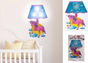 AQS Plastic Unicorn Wall Sticker LED Lamp Shade Kids Bedroom Night Light Room Girls