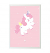 A Little Lovely Company – Poster Unicorn 50 x 70 cm