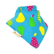 Funky Giraffe Blue Pears Bandana Bib