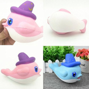 Bureze Squishy Slow Rising Kawaii Whale Soft Squeeze Cute Dolphin Cell Phone Strap Bread Cake Stretchy Toy
