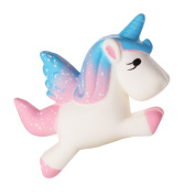 iiniim Cute Cream Scented Slow Rising Toy Unicorn Squeeze Squishy Toy for Kids Gift Home Decoration or Stress Relief Squishy Wings Unicorn Pegasus Stress Relief Multi 10 x 9 cm