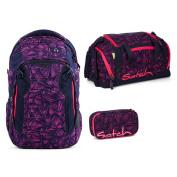 Fond of Bags Schoolbag Set Dunkelblau Pink