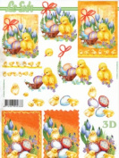 Easter Card Making A4 Traditional Decoupage Sheet 777.156