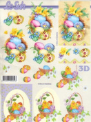 Easter Card Making A4 Traditional Decoupage Sheet 777.159