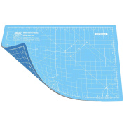 ANSIO A4 Double Sided Self Healing 5 Layers Cutting Mat Imperial/Metric 9 Inch x 12 Inch / 22cm x 30cm - True Blue / Sky Blue