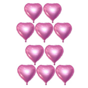 10pcs Heart Foil Balloons Helium Birthday Wedding Valentine's Day Globos Party Decoration Air Balloons