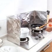 Oil Aluminium Foil Plate Gas Stove Oil Splatter Screens Cooking Insulate Splash Proof Baffle Plate Splash Screen Oil Block Board