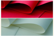 2 SHEETS OF RED AND IVORY/ECRU FOAMIRAN FLOWER MAKING FOAM - 30CM X 35CM - SELECTION OF COLOURS - FREE POSTAGE