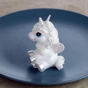 Sunwords 1Pc Flying Unicorn Horse Smokeless Birthday Candles for Wedding Party Favour - Random Colour