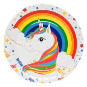 Profusion Circle Unicorn Theme Party Favours Supplies Birthday Cake Topper Triangle Flag Banner Paper Cup Plate Hat Box