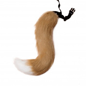 SWIDUUK Halloween Faux Fur Fox Tail Cosplay Furry Wolf Dog Adjustable Carnival Costume