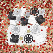 Hollywood At The Movies Red Carpet Film Sparkle Confetti Birthday Celebration Party New Years Paper Tableware Decorations