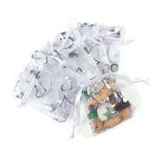Multiware 100 Pcs Organza Bags Drawstring Gift Bags Party Wedding Favour Gift Pouches