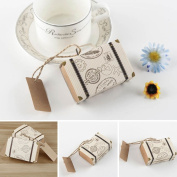 Candy Bags ,Woopower 20Pcs Mini Suitcase Sweet Married Wedding Christmas Favour Box Gift Candy Paper Party Package Cover Case