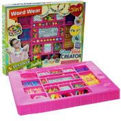 Jewellery Making Kit for Girls - Beads for Jewellery Making - Arts and Crafts for Girls - Alphabet Beads - Includes Over 300 Beads - by Dooboe