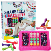 Beads for Jewellery Making Kids - Jewellery Making Kit for Girls - Shamballa Bracelet Kit - Arts and Crafts for Girls - Includes Over 150 Beads - by Dooboe