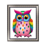 Kofun DIY Colourful Lovely Owl5D Diamond Painting Crystal Embroidery Crafts Cross Stitch Art Craft Home Room Wall Decor 30x35 cm