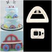 2 Pcs Cars Fondant Sugarcraft Cake Decorating Plunger Cutters Icing Modelling Tool Sugarcraft Cake Cutter Fondant Moulds Icing Cookie Tool Sugarcraft DIY Decorating Mould