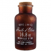 Clayre & Eef 6GL1542 Decorative Bottle with Cork Brown ø 8 x 17 cm