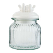Clayre & Eef 6GL1517 Pot Jar Ceramic Lid. Dimensions Approx. 11 x 16 cm