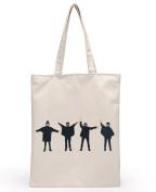 Skeyeye Simply Cute Cartoon Printing Canvas Handbag Shoulder Bags for Teen Girls