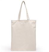 Skeyeye 1 Pc White Simply Teen Girls Shoulder Bags Canvas Handbag with Zipper