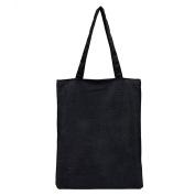 Skeyeye 1 Pc Black Simply Teen Girls Shoulder Bags Canvas Handbag