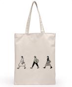 Skeyeye 1 Pc Simply Cute Cartoon Printing Teen Girls Shoulder Bags Canvas Handbag