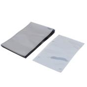 50 Pcs 90mm x 150mm Silver Tone Flat Open Top Anti Static Bag For Electronics