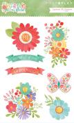 Spring In My Garden Layered Stickers